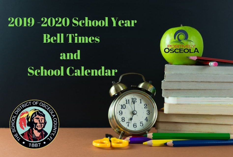 Osceola School District Announces 2019-20 Bell Times and School Calendar