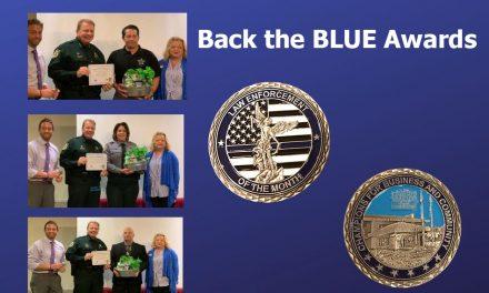 Kissimmee/Osceola County Chamber and OREC Present Back the Blue Award to Three Osceola Sheriff Employees