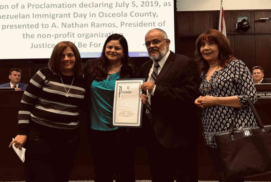 Osceola County Proclaims July 5th to be known as Venezuelan Refuge Day