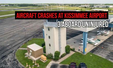 Small Aircraft Crashes After Taking Off at Kissimmee Airport, 3 Aboard Uninjured