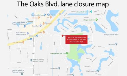Eastbound Lane Closure at The Oaks Blvd. and The Oaks Blvd. Intersection in Kissimmee Starting Monday, June 24