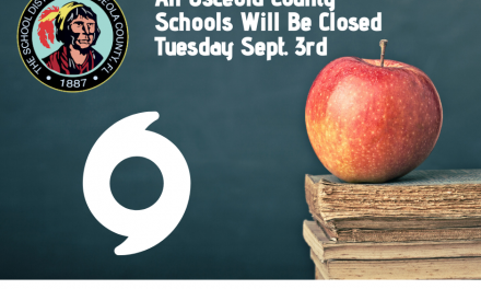 Osceola Schools to be Closed On Tuesday, September 3rd Due to Hurricane Dorian