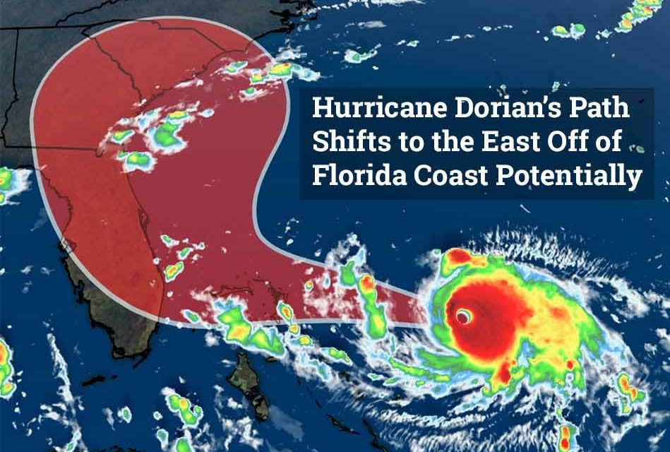 Dorian Strengthens to a Category 4, But New Projected Path Moves it Off Florida Coast