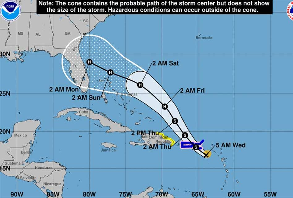Tropical Storm Dorian Still On a Path Towards Central Florida, Possible Category 2 at Landfall