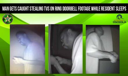 Man Gets Caught Stealing TVs on Ring Doorbell Footage in Kissimmee While Resident Sleeps