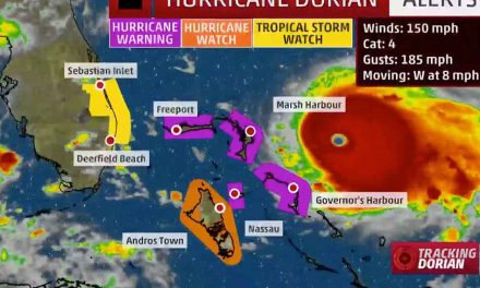 Hurricane Dorian Nears Bahamas as Strong Category 4; Danger From Florida Through Carolinas