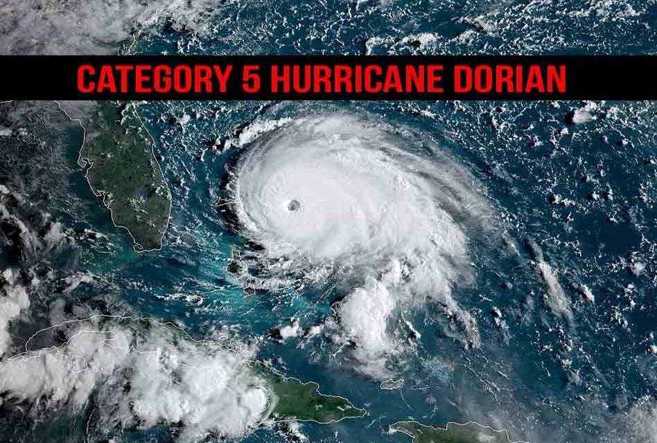 Category 5 Hurricane Dorian Prepares to Crush the Bahamas as It Crawls Closer to Florida