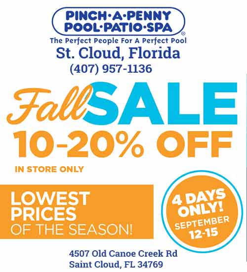 Pinch a Penny Pool Patio Spa Fall Sale