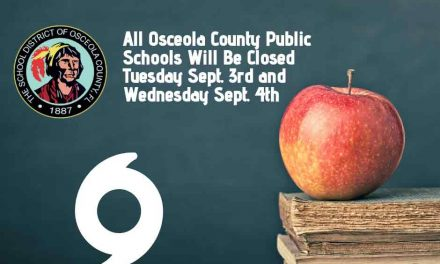 Osceola School District Schools To Be Closed On Tuesday and Wednesday Due to Cat 5 Hurricane Dorian