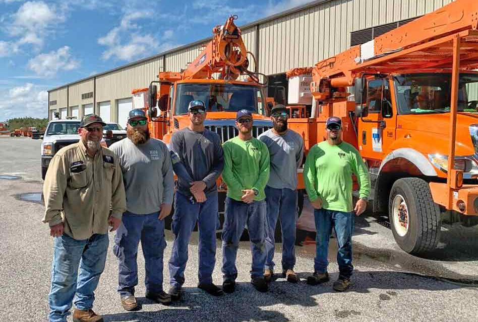 Kissimmee Utility Authority crews travel to Lakeland to help restore power following tornado