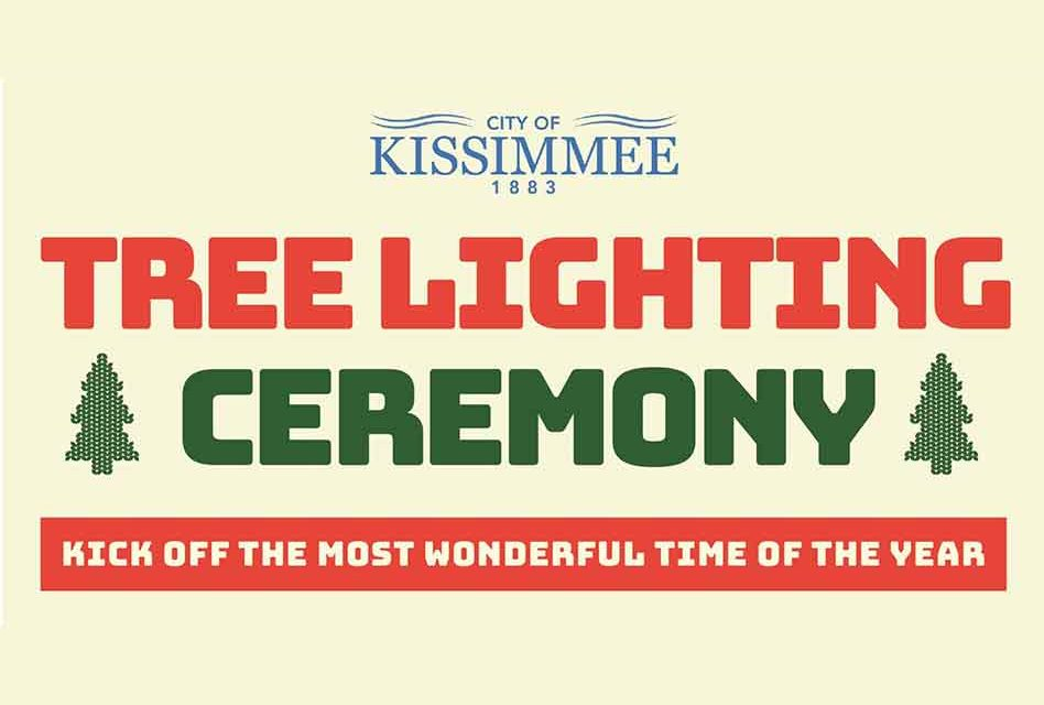 Kissimmee's Holiday Tree Lighting to be held at City Hall Tuesday Dec. 3 at 5pm