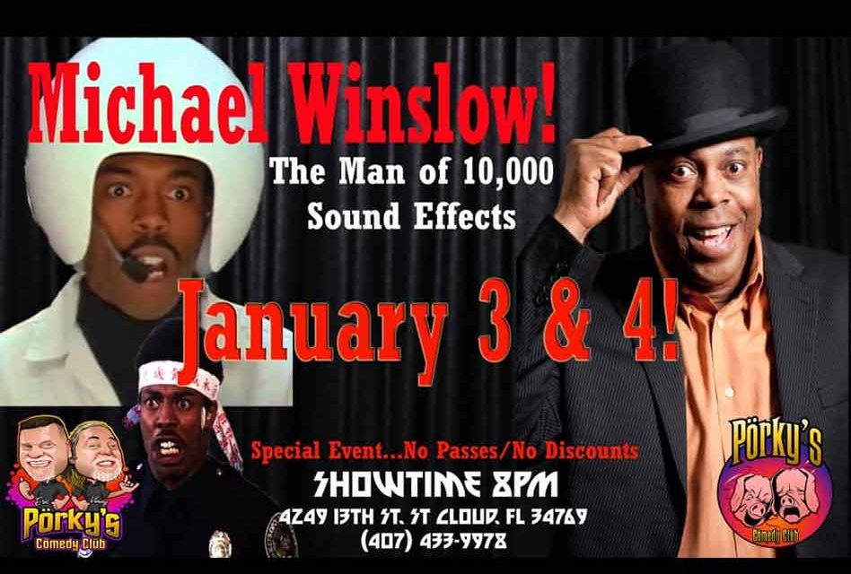 Comedy icon Michael Winslow to help ring in 2020 at Porky's Comedy Club