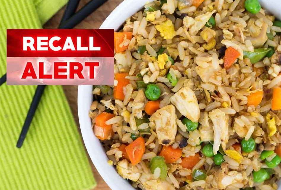 86 tons of chicken fried rice recalled for possible plastic bits