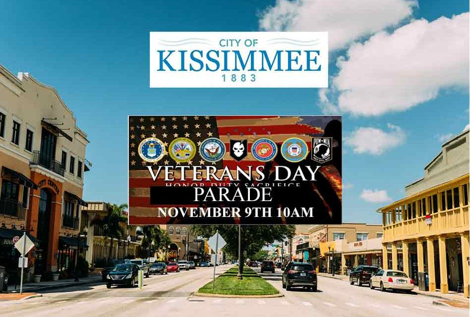 Saturday's Veterans Day Parade in Downtown Kissimmee to bring road closures