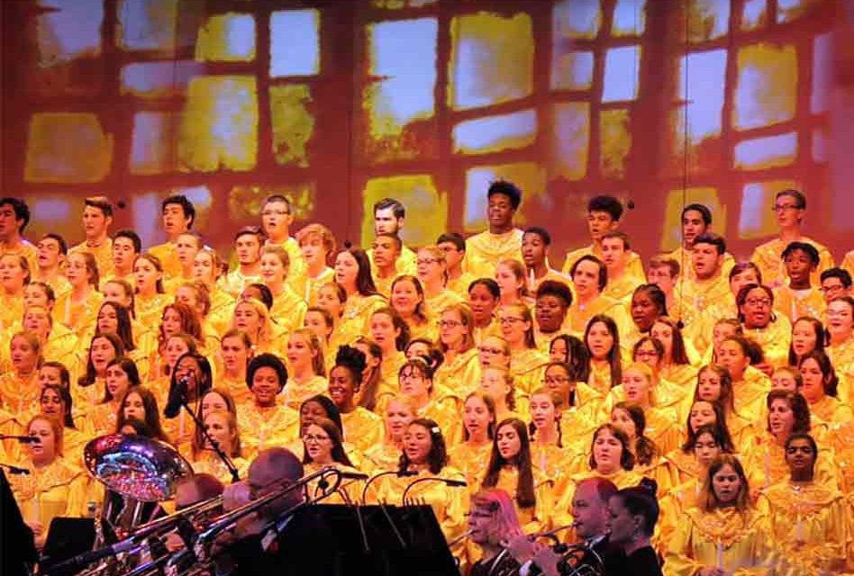 Osceola County high school choruses perform at Epcot's Candlelight Processional