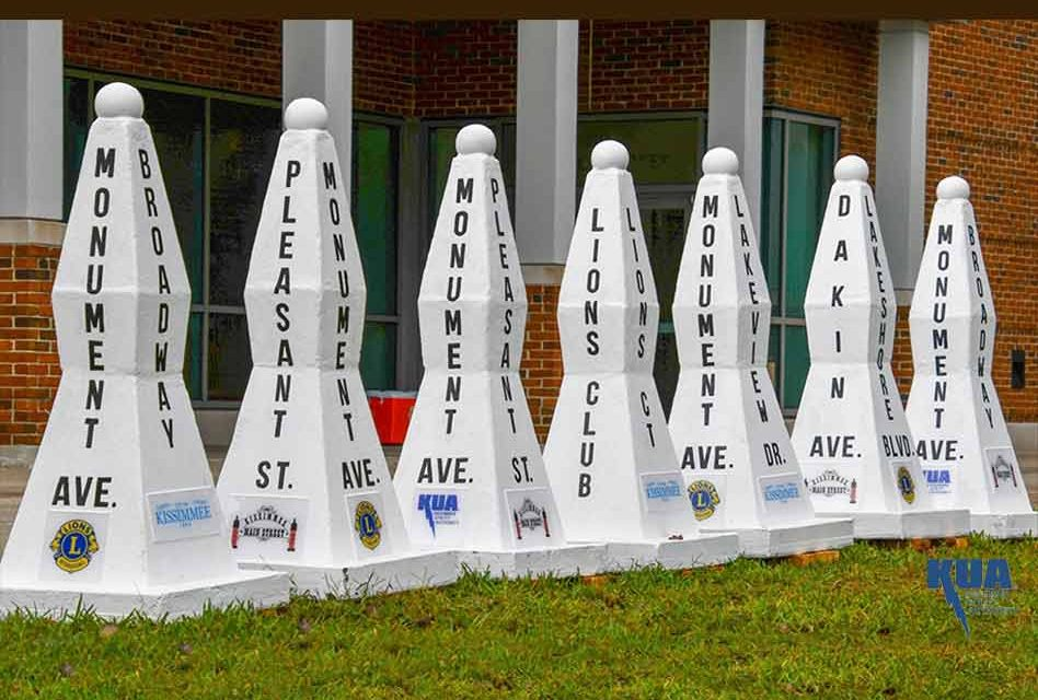 """Kissimmee unveils """"new old"""" Monument of States street markers"""