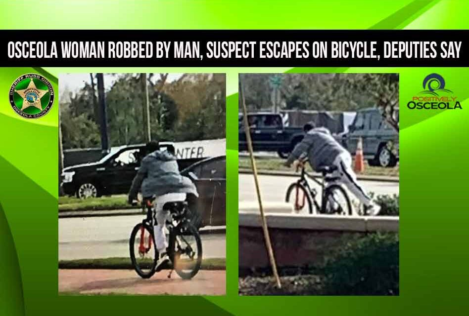 Osceola woman robbed by man, suspect escapes on bicycle, deputies say