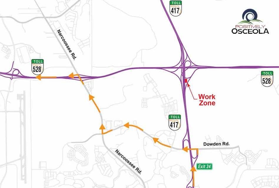 Traffic Alert: Nightly ramp closures at SR 417 and SR 528 Interchange