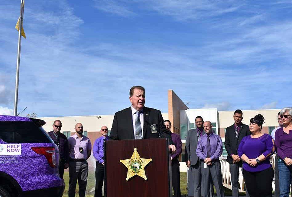 Osceola Sheriff's Office unveils purple Domestic Violence Awareness vehicle