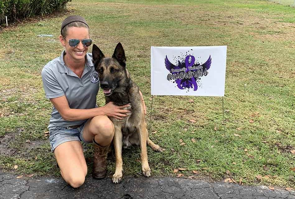 Paws Against Domestic Violence launches in Osceola, presents first two companion dogs