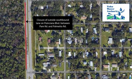 Closure of outside southbound lane on Poinciana Blvd. between Pam Rd. and Palmetto Rd. on January 14 – 15