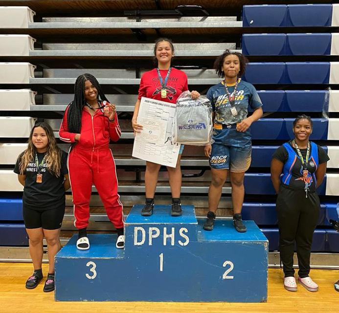 Gateway's Emiliana Martinez, Osceola's Natalia Ferrer win girls wrestling state titles; OHS 3rd as a team