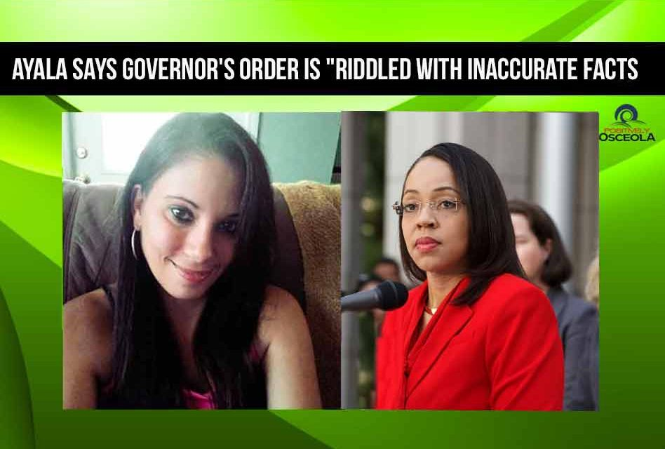 """Ayala says Governor's order is """"riddled with inaccurate facts, and I need to correct them"""
