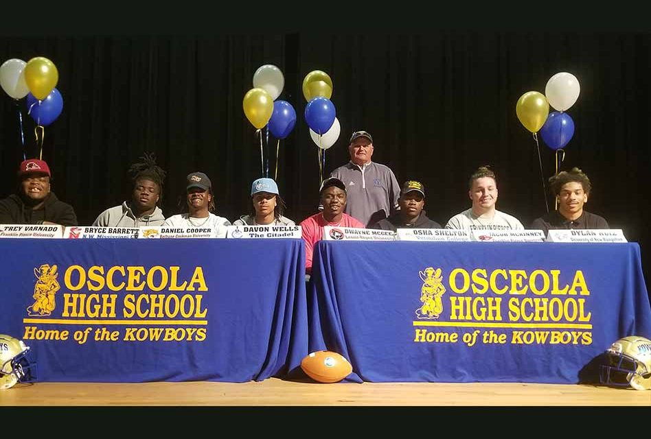 National Signing Day: Eight Osceola Kowboys off to play Saturdays