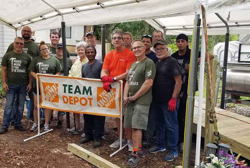 Home Depot, Council on Aging come together to build ramps, help veterans' families