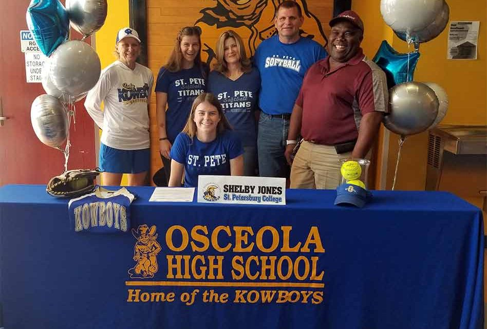 Shelby Jones to play at St. Petersburg College; third Osceola Kowboy to sign this year
