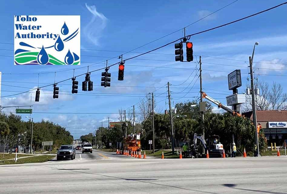 Toho Water Authority announces temporary lane restrictions at intersection of US-192/441 and Simpson Road