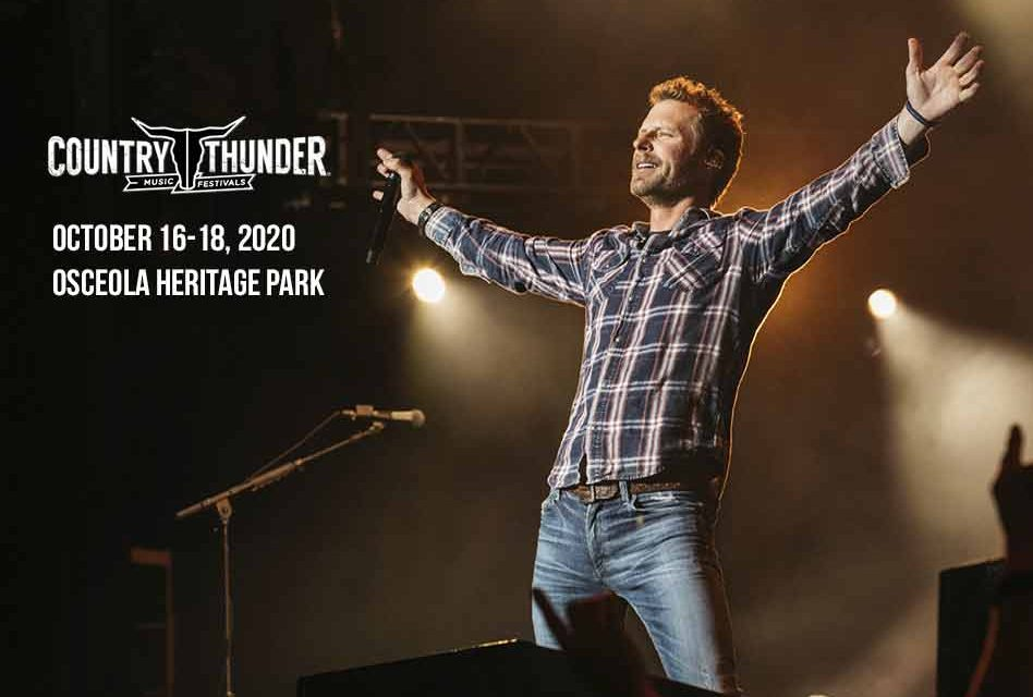 Country Thunder is now Oct. 16-18, and will still feature Kane Brown, Dierks Bentley and Eric Church