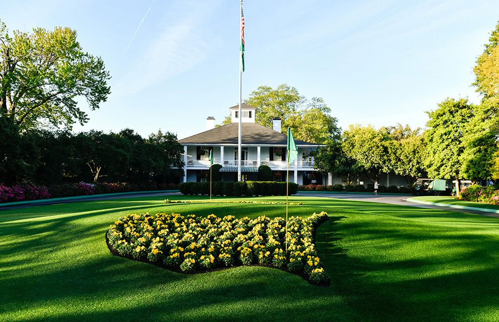 Azaleas in bloom, but The Masters is postponed as a COVID-19 precaution