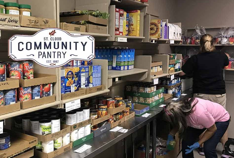 Food distribution at St. Cloud Community Pantry continues while adhering to CDC guidelines
