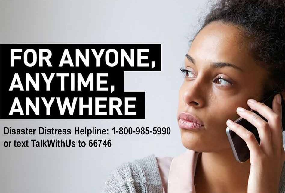 SAMHSA Distress Helpline offers crisis counseling and mental support during COVID-19 response
