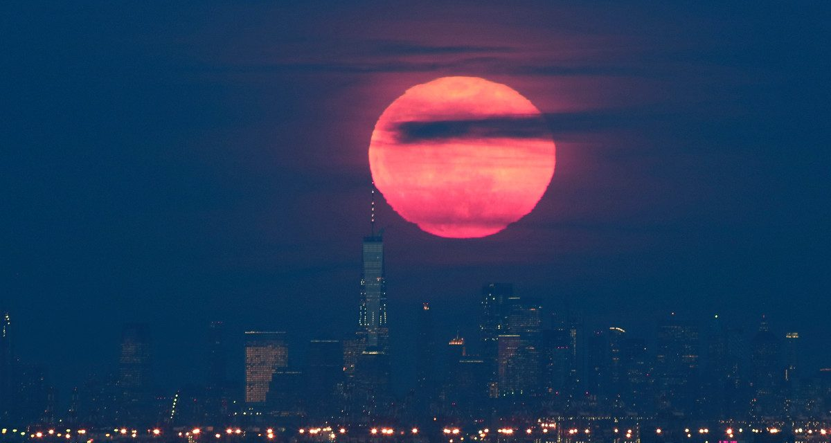 Look up and enjoy tonight's April Supermoon!