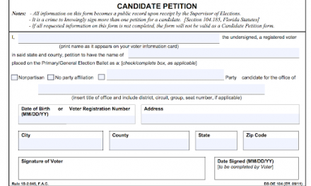 County Commission candidate working to have petition qualification process suspended due to COVID-19 effect