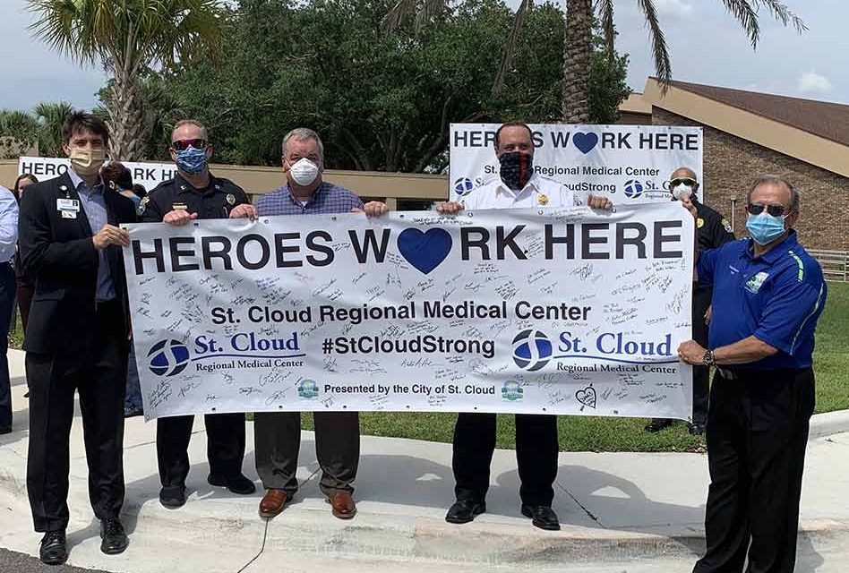 "St. Cloud officials, responders remind us ""Heroes"" work at St. Cloud Regional Medical Center"