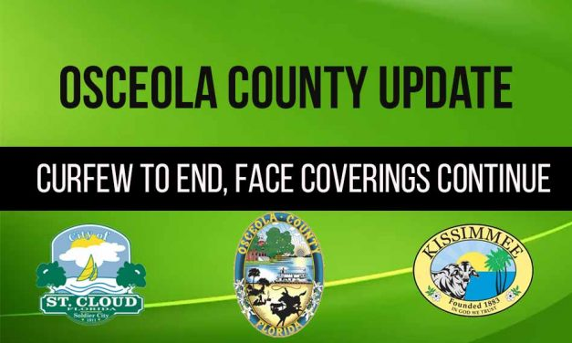 2 things to know about Monday in Osceola County: curfew ending, face covering mandate remains