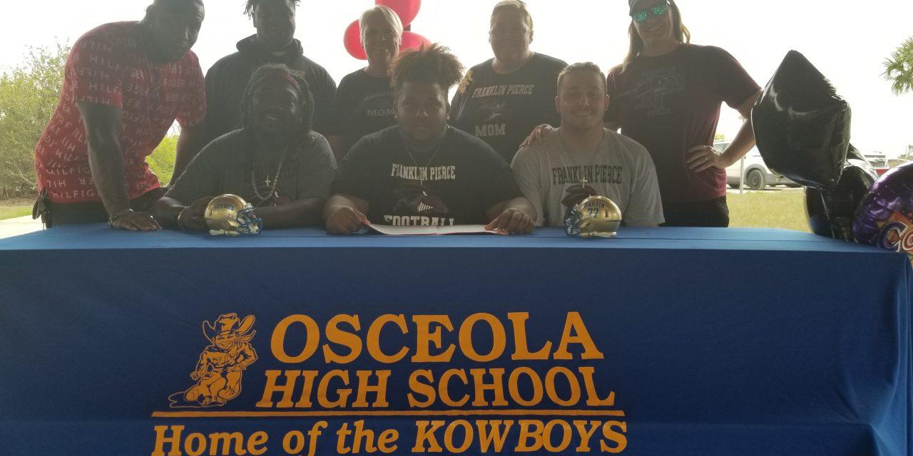 Sevien Martin becomes Osceola Kowboys 10th football signing, headed to Franklin Pierce U.