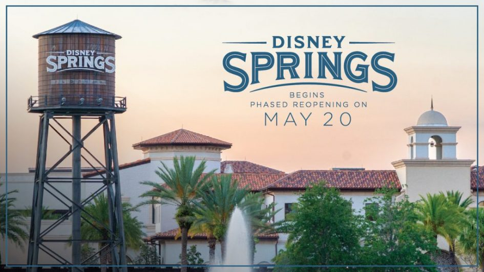 Here's the details on Disney Springs' phased opening that starts Wednesday