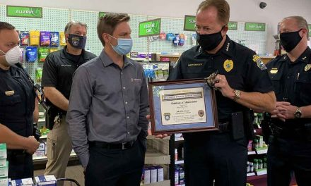 Prescriptions Unlimited honored for providing St. Cloud Police with essential supplies during the coronavirus pandemic
