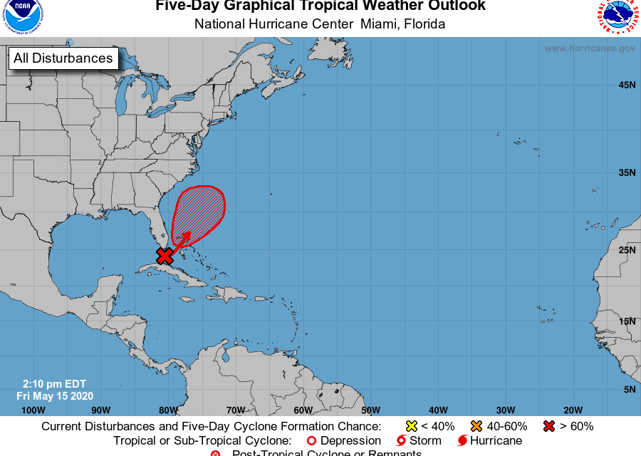 Low pressure system in Florida Straits may develop. How will it impact Osceola County