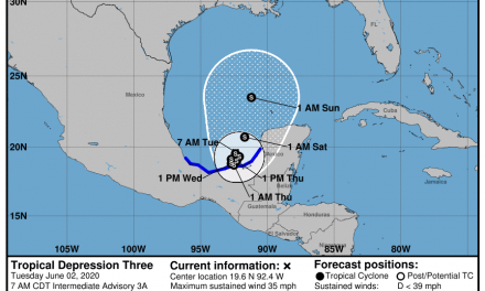 Day 1 of 2020 hurricane season brings Tropical Depression 3 in Bay of Campeche — where's it going?