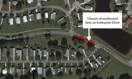 Toho Water announces temporary eastbound lane closure on Enterprise Drive for sewer repair project