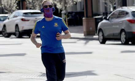 Should you wear a face covering while jogging or biking?