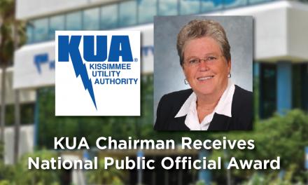 KUA Chairman Kathleen Thacker receives national public power official award