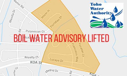 UPDATE: Toho Water Precautionary boil water advisory issued to customers on San Remo Road lifted