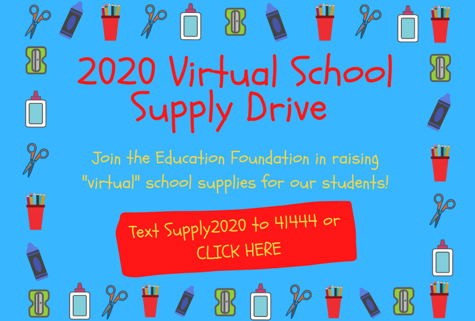 Education Foundation's Virtual Supply Drive for needy students starts today; hey businesses: step up!