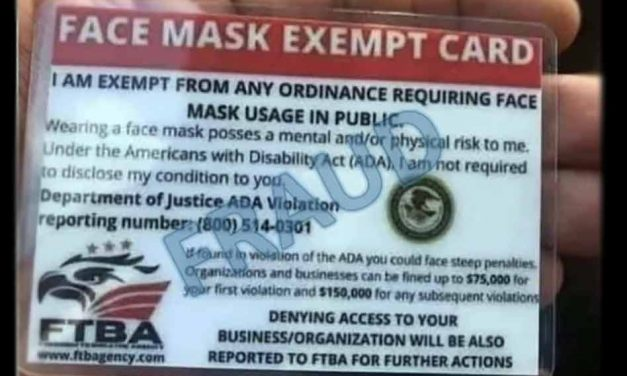 """Have you seen a """"face mask exempt"""" card recently? If so, you really haven't – they're fake"""